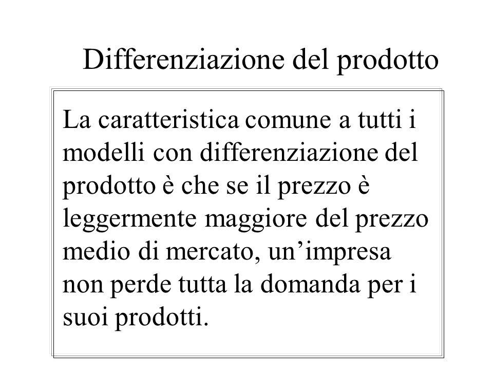 Lequilibrio nel modello di Bertrand Se n è maggiore o uguale a 2, tutti i prodotti sono sostituti perfetti e nessuna impresa ha un vantaggio di costo,