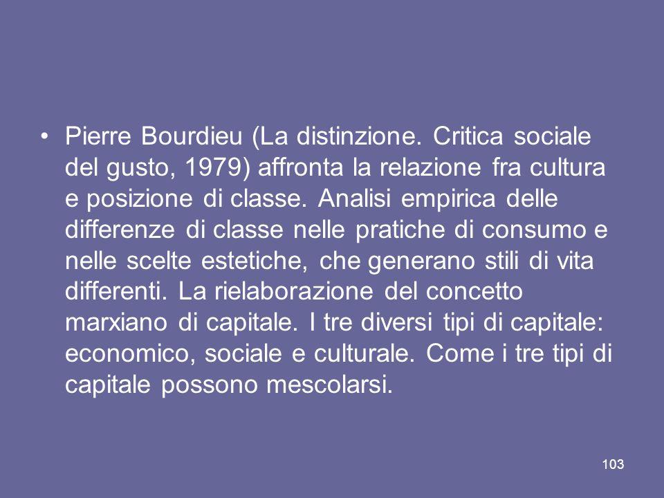 Pierre Bourdieu (La distinzione.