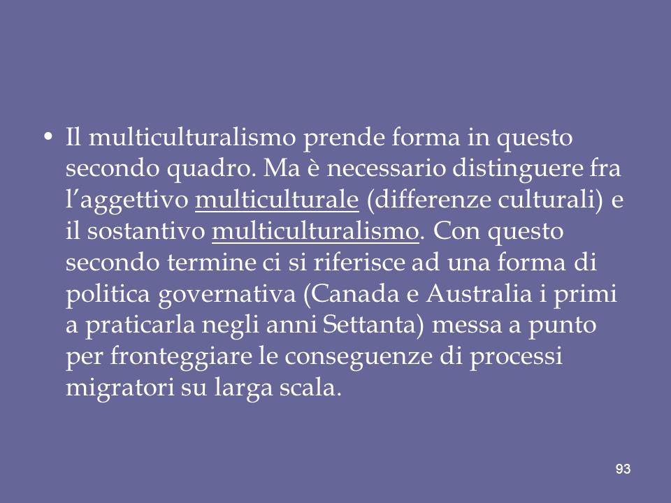 Il multiculturalismo prende forma in questo secondo quadro.