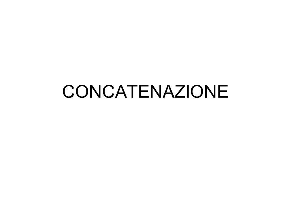 CONCATENAZIONE