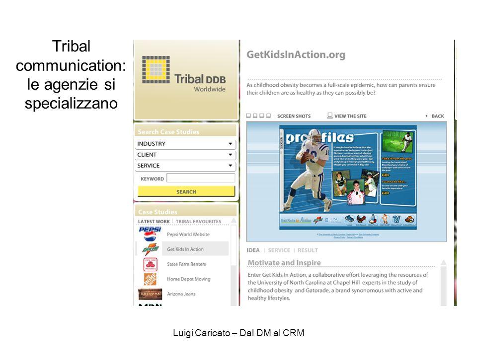Luigi Caricato – Dal DM al CRM Tribal communication: le agenzie si specializzano