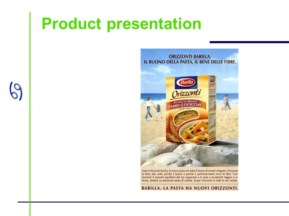 a Product presentation