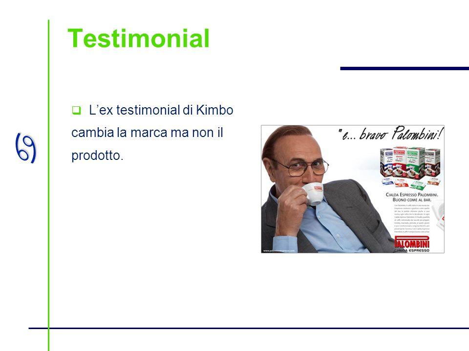 a Testimonial Lex testimonial di Kimbo cambia la marca ma non il prodotto.