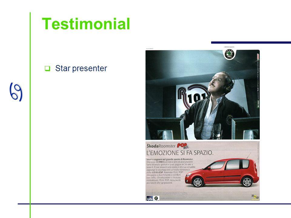 a Testimonial Star presenter