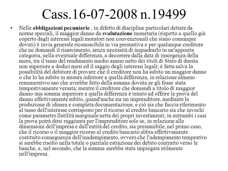 INTERESSI Interessi corrispettivi: produzione dal momento in cui la somma è liquida ed esigibile (art.