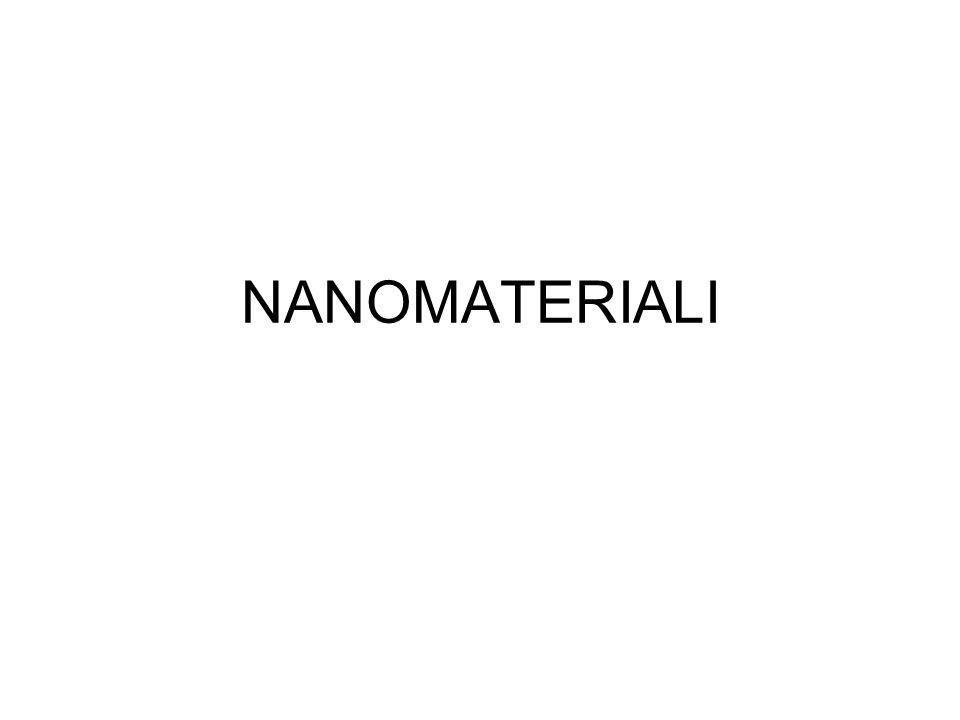 Per materiali nanostrutturati sintendono materiali costituiti da particelle con dimensioni < 100 nm.