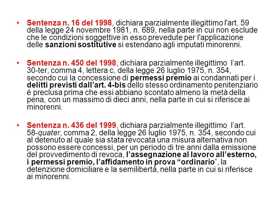 Sentenza n. 16 del 1998, dichiara parzialmente illegittimo l'art. 59 della legge 24 novembre 1981, n. 689, nella parte in cui non esclude che le condi
