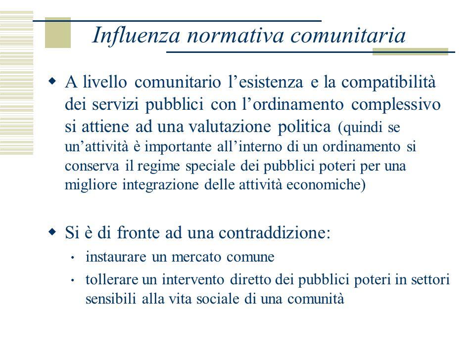 Art.90 tr. CE Paradigma della disciplina comunitaria dei servizi pubblici è lart.