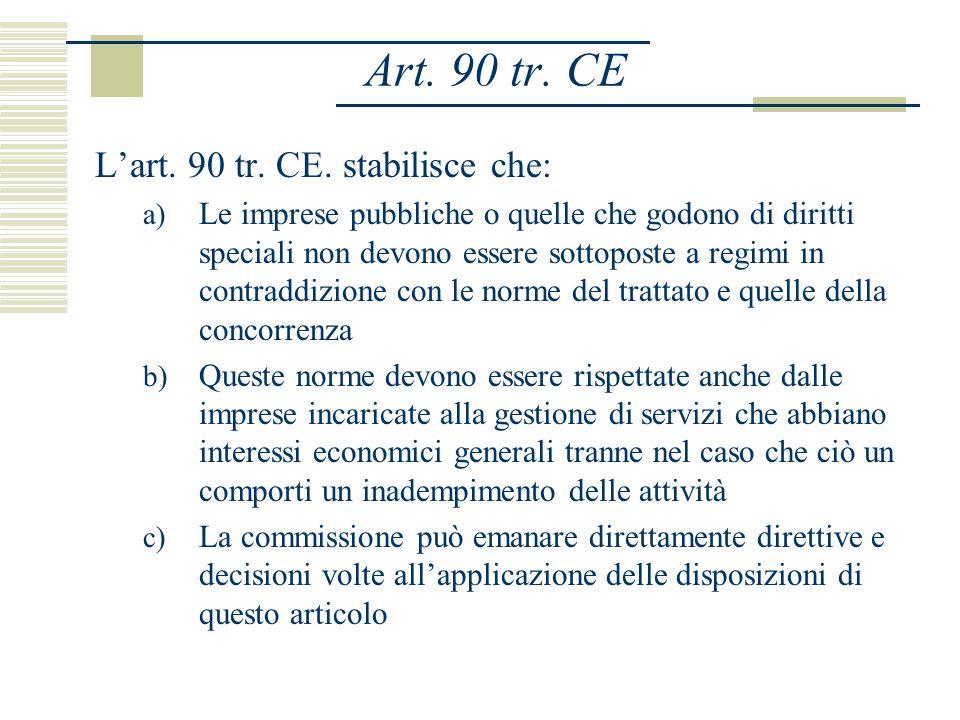 Art. 90 tr. CE Lart. 90 tr. CE.
