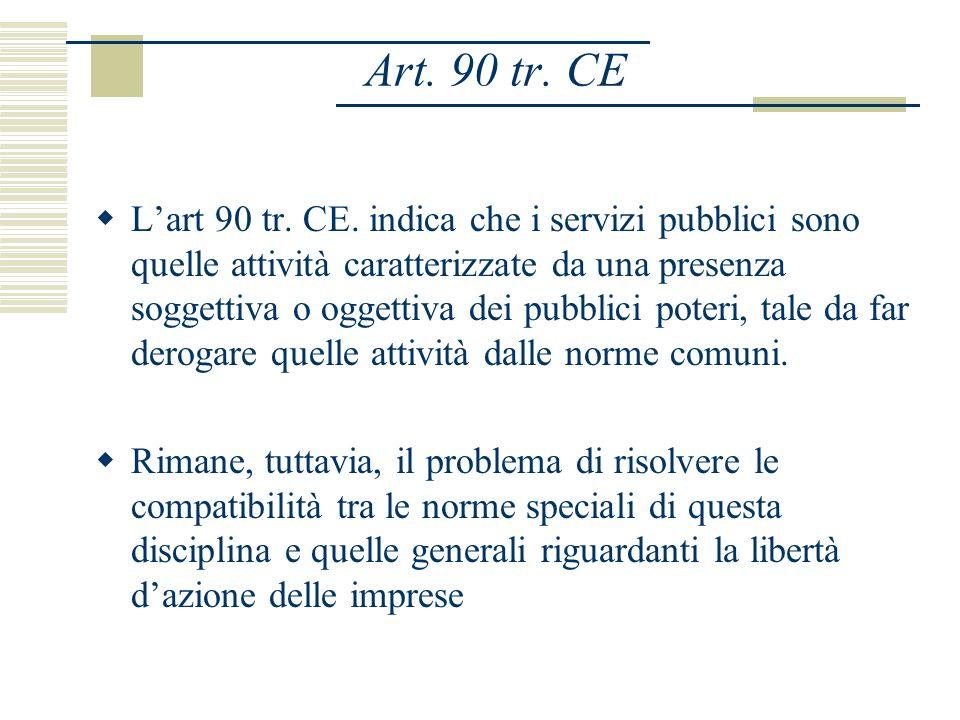 Art. 90 tr. CE Lart 90 tr. CE.