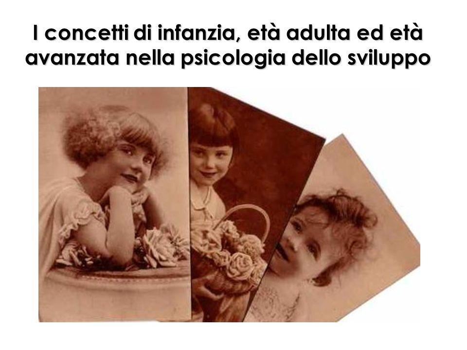I concetti di infanzia, età adulta ed età avanzata nella psicologia dello sviluppo