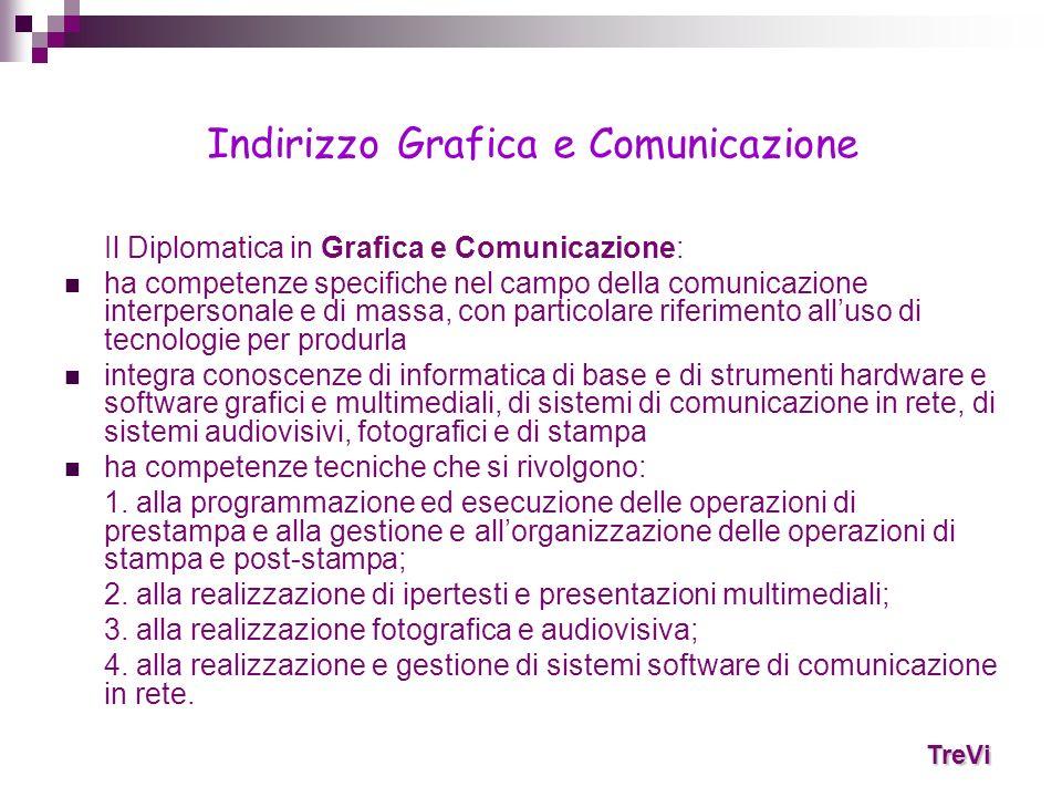Il Diplomatica in Grafica e Comunicazione: ha competenze specifiche nel campo della comunicazione interpersonale e di massa, con particolare riferimen