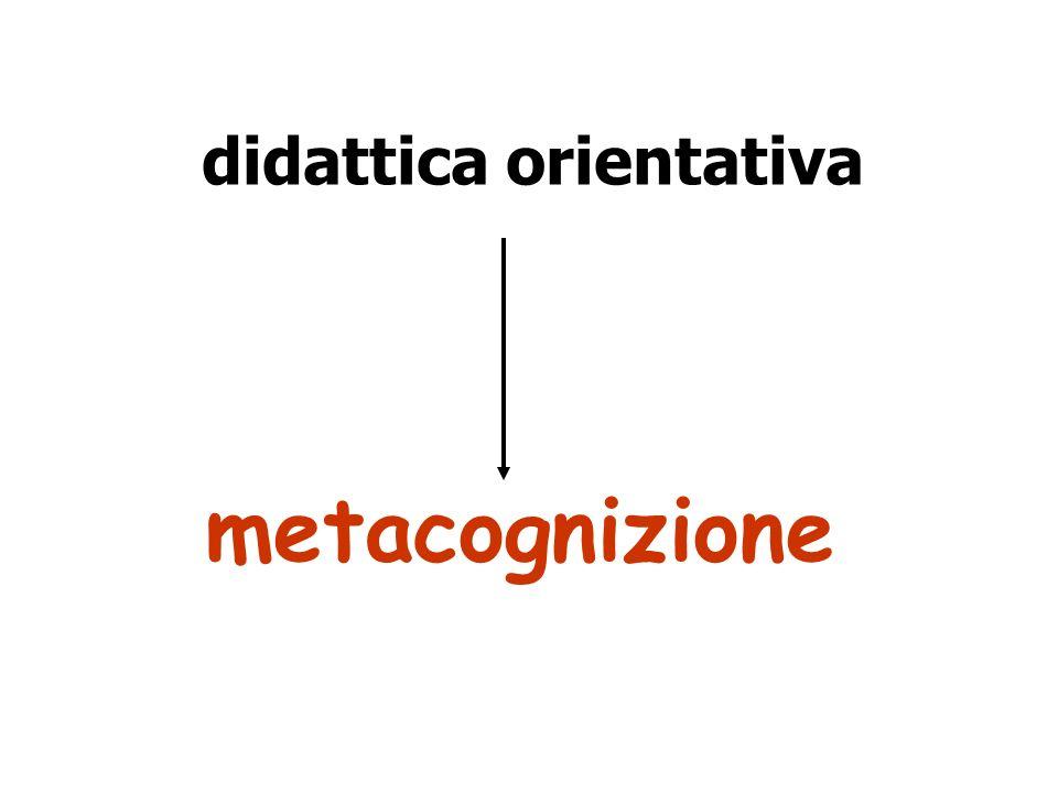 didattica orientativa metacognizione