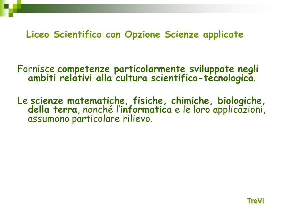Fornisce competenze particolarmente sviluppate negli ambiti relativi alla cultura scientifico-tecnologica. Le scienze matematiche, fisiche, chimiche,