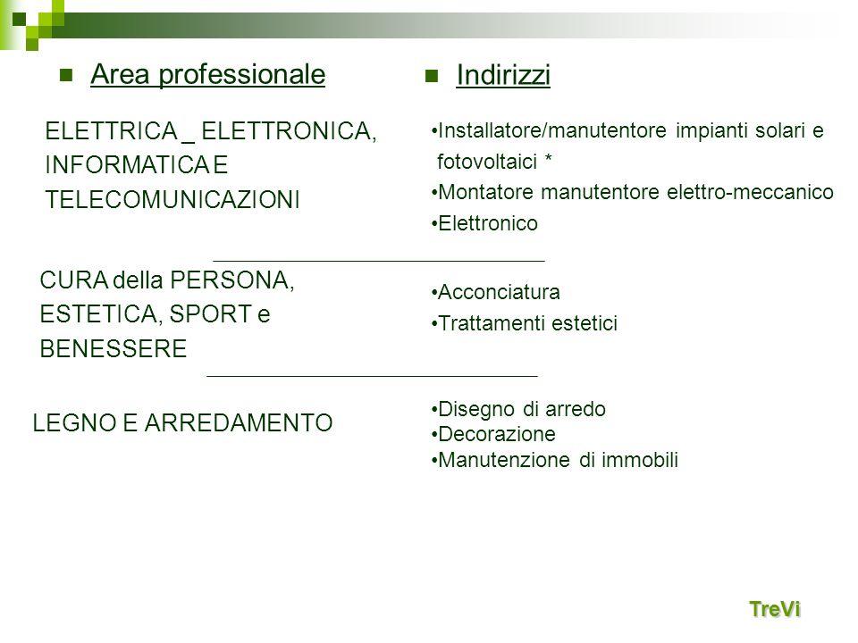 TreVi ELETTRICA _ ELETTRONICA, INFORMATICA E TELECOMUNICAZIONI Installatore/manutentore impianti solari e fotovoltaici * Montatore manutentore elettro