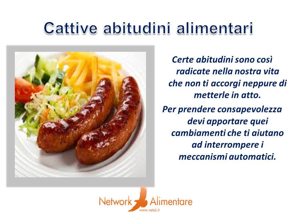 … si propone di cambiare una cattiva abitudine per volta iniziando con il prodotto che caratterizza la cucina italiana: lolio, alimento essenziale della nostra dieta giornaliera
