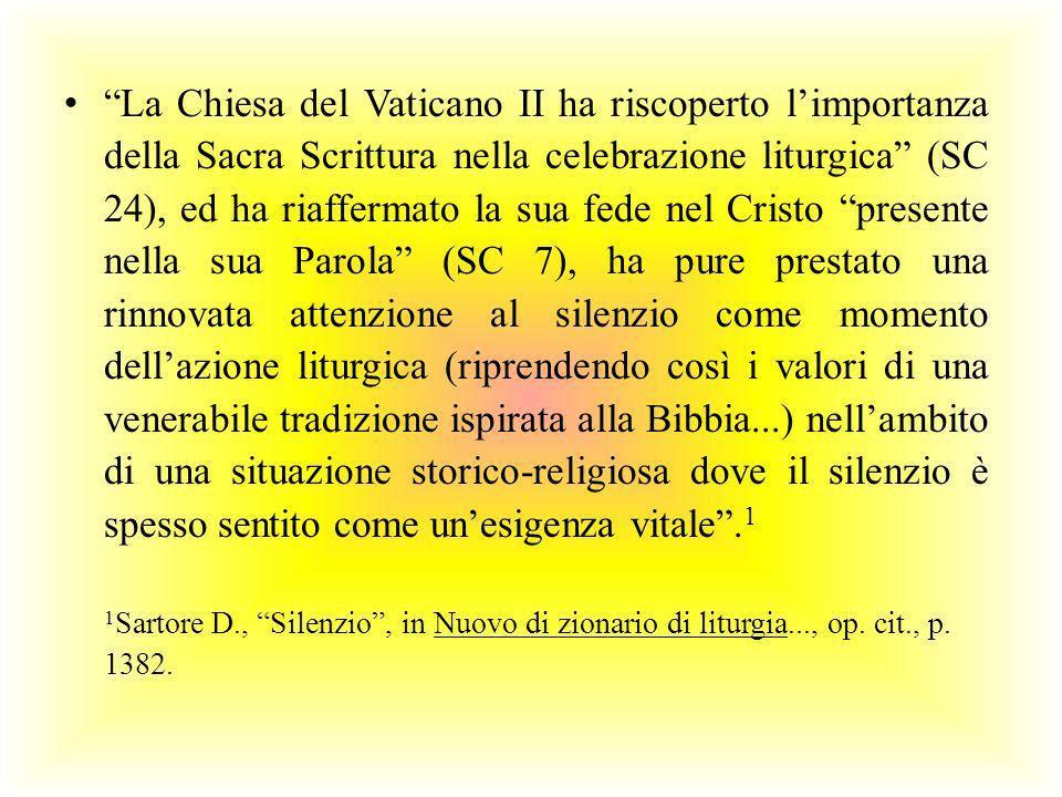 La Chiesa del Vaticano II ha riscoperto limportanza della Sacra Scrittura nella celebrazione liturgica (SC 24), ed ha riaffermato la sua fede nel Cris