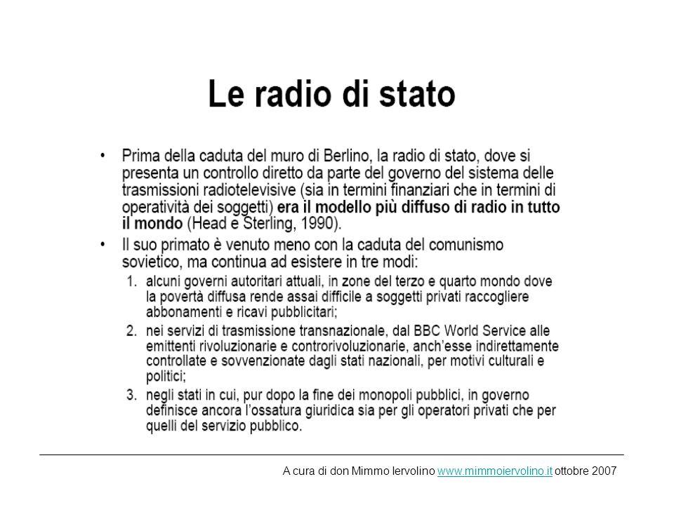 http://www.rai.it/dl/portal/radio.html A cura di don Mimmo Iervolino www.mimmoiervolino.it ottobre 2007www.mimmoiervolino.it