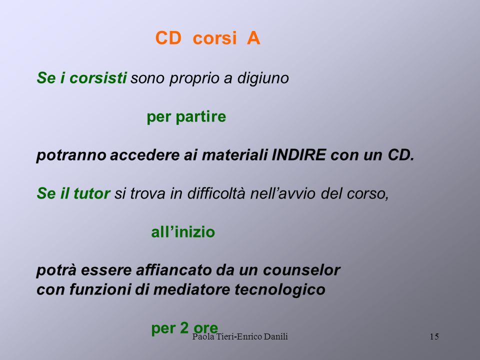 Paola Tieri-Enrico Danili14 Spostamento iscrizioni Il riequilibrio numerico dei corsi è possibile grazie a una nuova funzione che i corsisti attivano.