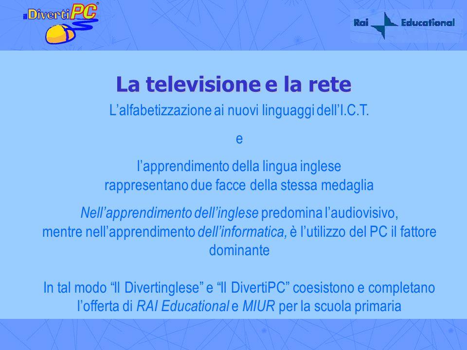La televisione e la rete Lalfabetizzazione ai nuovi linguaggi dellI.C.T. e lapprendimento della lingua inglese rappresentano due facce della stessa me