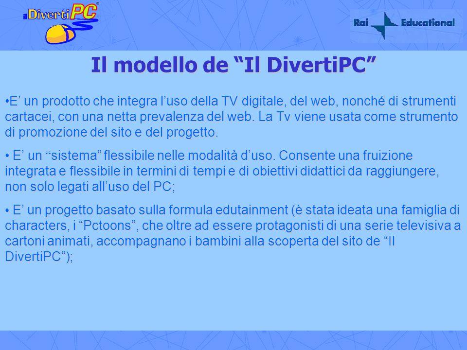 Il modello de Il DivertiPC E un prodotto che integra luso della TV digitale, del web, nonché di strumenti cartacei, con una netta prevalenza del web.