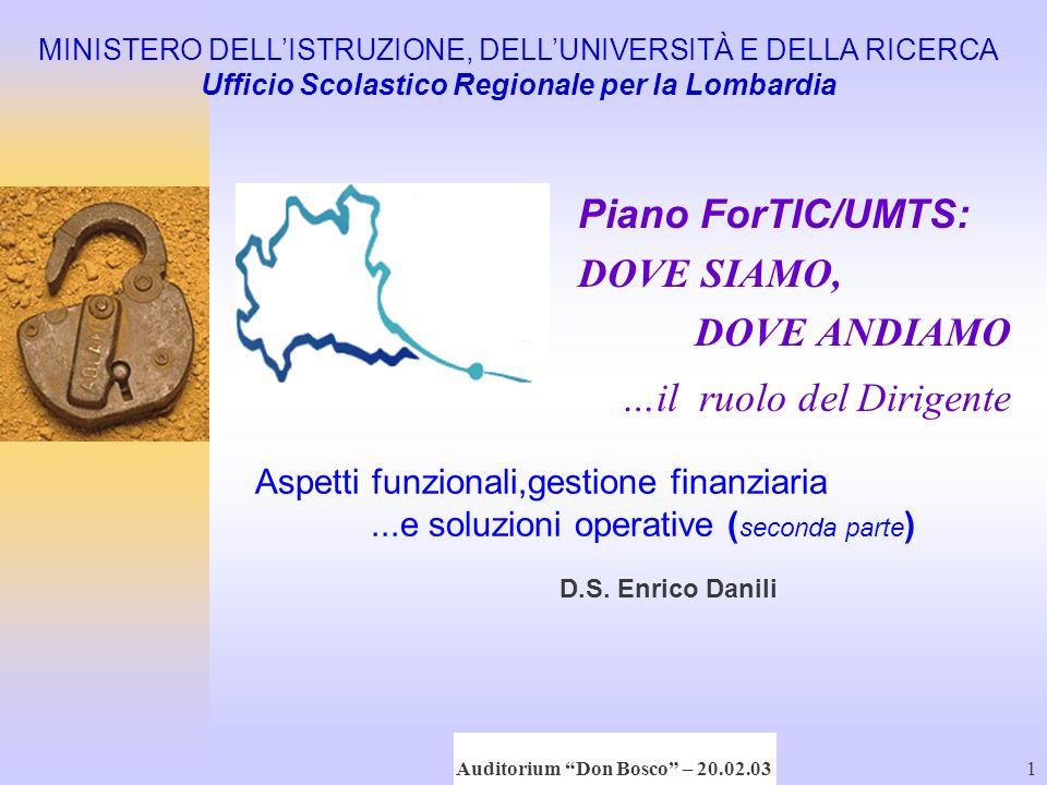 D.S. Enrico Danili Conferenza di Servizio 20 febbraio '031 …il ruolo del Dirigente Aspetti funzionali,gestione finanziaria...e soluzioni operative ( s