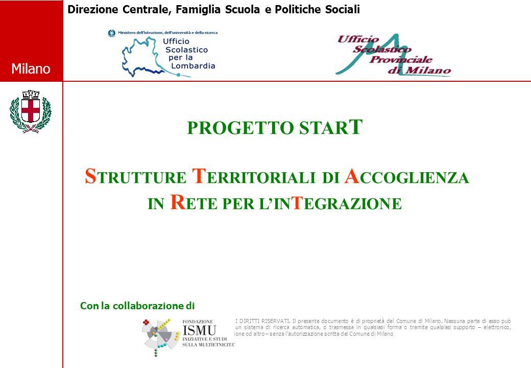 2 © Comune di Milano Milano I DATI DEL FENOMENO MILANESE Anno scolastico 2008-2009 (1) Tav.