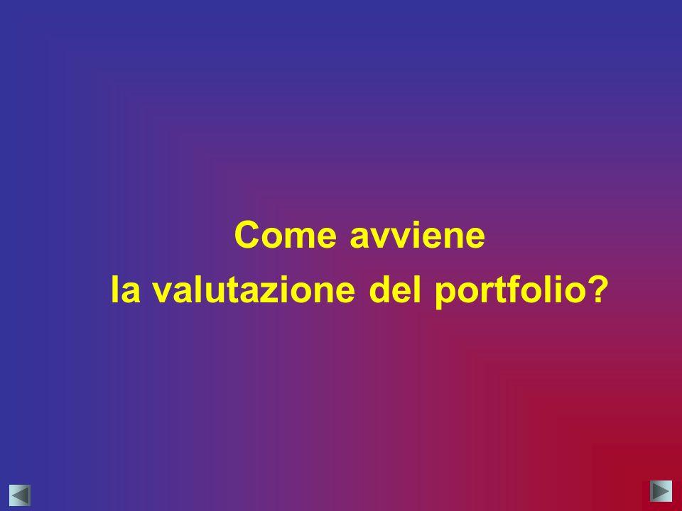 Come avviene la valutazione del portfolio?