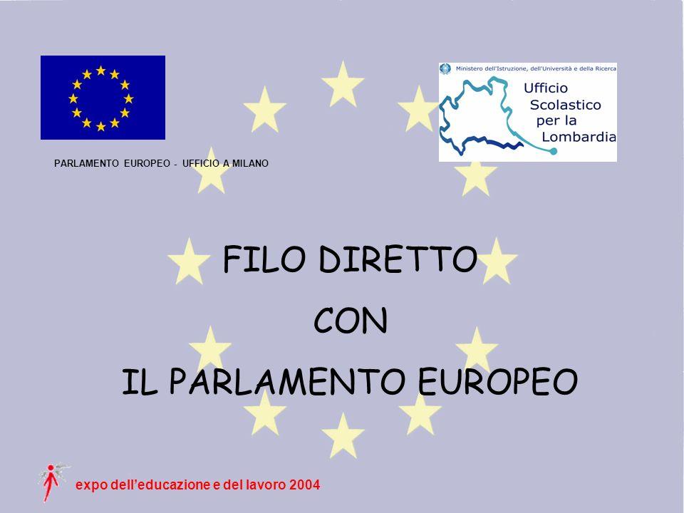 expo delleducazione e del lavoro 2004 PARLAMENTO EUROPEO - UFFICIO A MILANO FILO DIRETTO CON IL PARLAMENTO EUROPEO