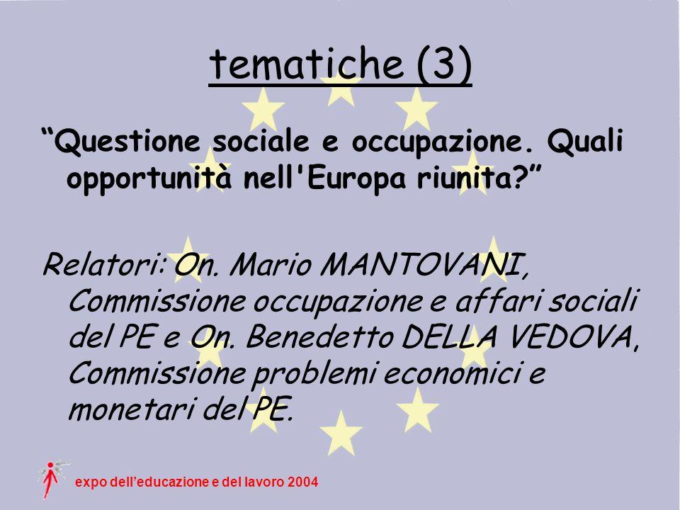 expo delleducazione e del lavoro 2004 tematiche (3) Questione sociale e occupazione.