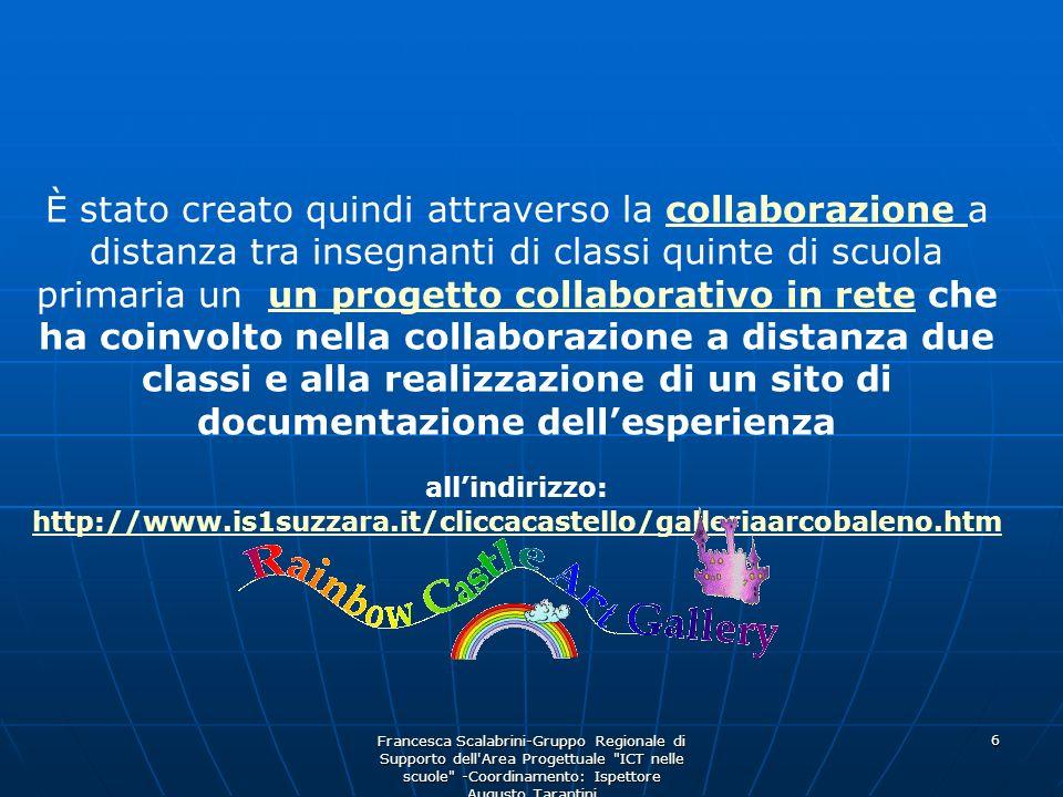 Francesca Scalabrini-Gruppo Regionale di Supporto dell'Area Progettuale