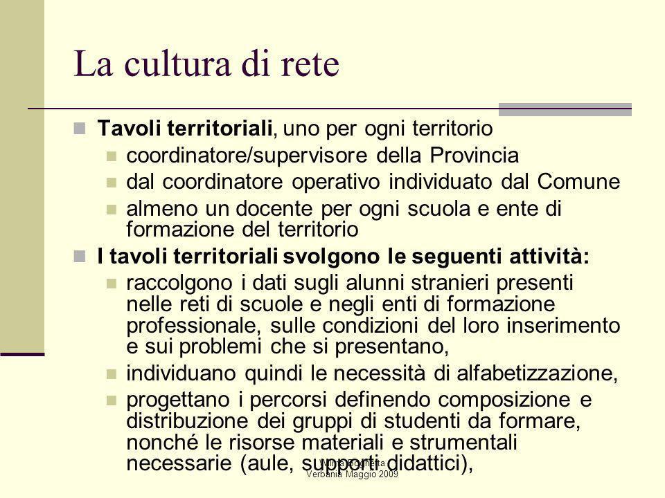 Wilma Boghetta Verbania Maggio 2009 Tavoli territoriali, uno per ogni territorio coordinatore/supervisore della Provincia dal coordinatore operativo i