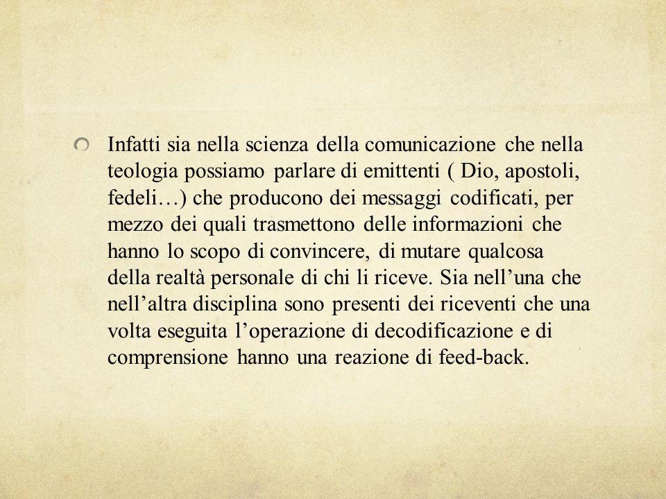 Ma come comunica Dio in sé e fuori di sé.E come deve comunicare luomo creato ad immagine di Dio.
