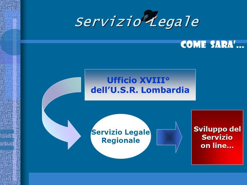 Servizio Legale Come SARA… Ufficio XVIII° dellU.S.R.