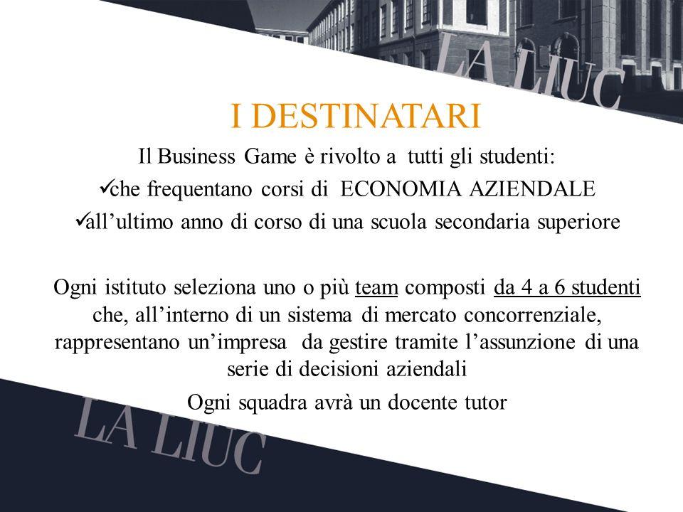 Testo TITOLO Il Business Game è rivolto a tutti gli studenti: che frequentano corsi di ECONOMIA AZIENDALE allultimo anno di corso di una scuola second
