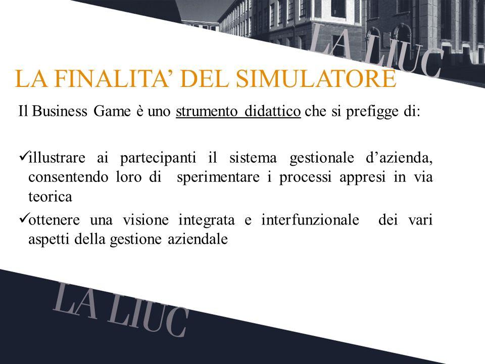Testo TITOLO LA FINALITA DEL SIMULATORE Il Business Game è uno strumento didattico che si prefigge di: illustrare ai partecipanti il sistema gestional