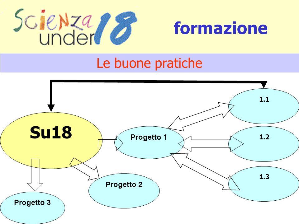 Progetto 2 Su18 Progetto 1 Progetto 3 formazione 1.1 1.2 1.3 Le buone pratiche
