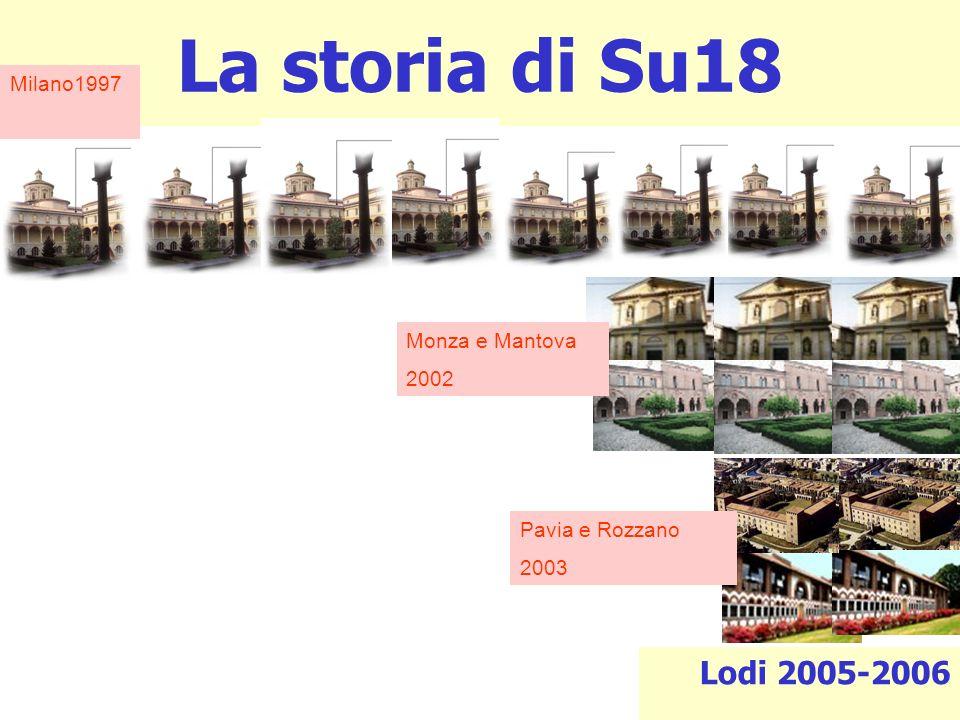 La storia di Su18 Lodi 2005-2006 Milano1997 Monza e Mantova 2002 Pavia e Rozzano 2003
