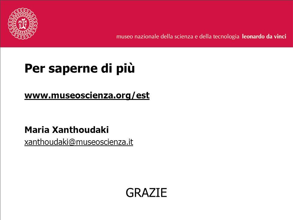 Per saperne di più www.museoscienza.org/est Maria Xanthoudaki xanthoudaki@museoscienza.it GRAZIE