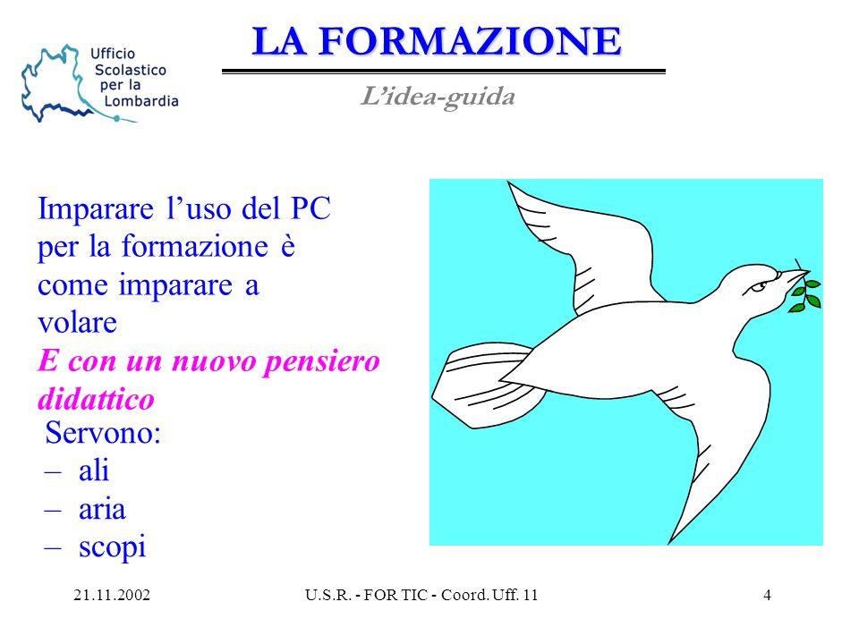 21.11.2002U.S.R. - FOR TIC - Coord. Uff. 113 PIANO FOR TIC (UMTS) ieri: ieri: le macro-scelte oggi: le azioni da attuare domani: i corsi di domani: i