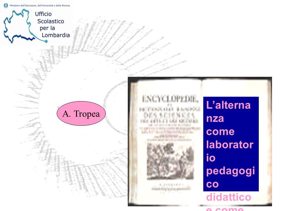 Lalterna nza come laborator io pedagogi co didattico e come valore sociale A. Tropea