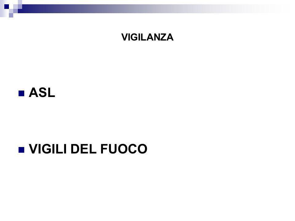 VIGILANZA ASL VIGILI DEL FUOCO