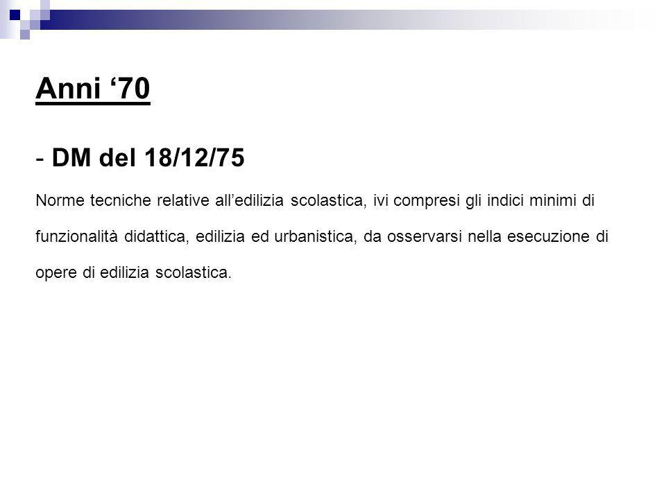 Anni 90 - DLgs n.277/91 Attuazione delle direttive n.
