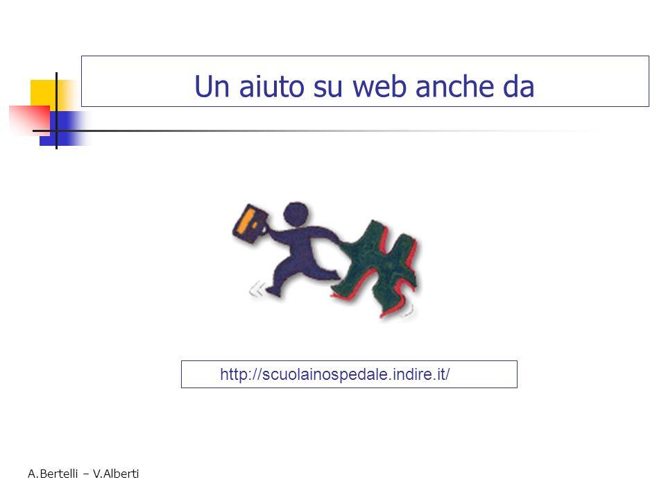 Un aiuto su web anche da A.Bertelli – V.Alberti http://scuolainospedale.indire.it/