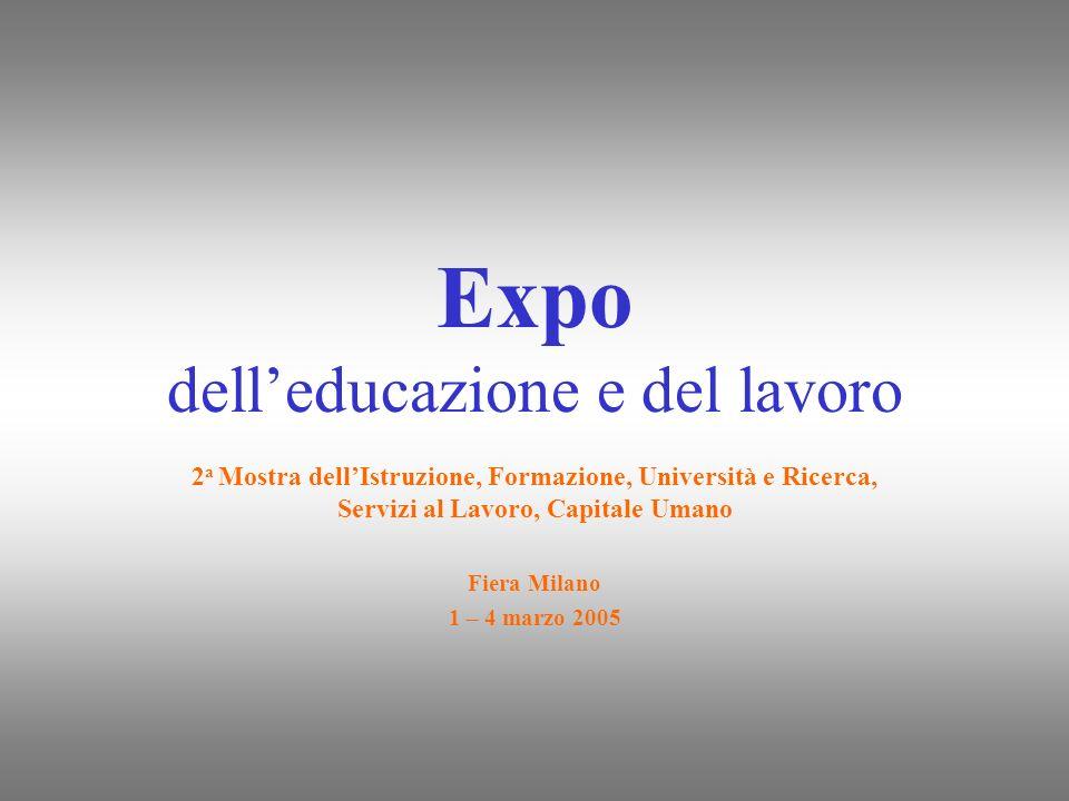 Expo delleducazione e del lavoro 2 a Mostra dellIstruzione, Formazione, Università e Ricerca, Servizi al Lavoro, Capitale Umano Fiera Milano 1 – 4 mar