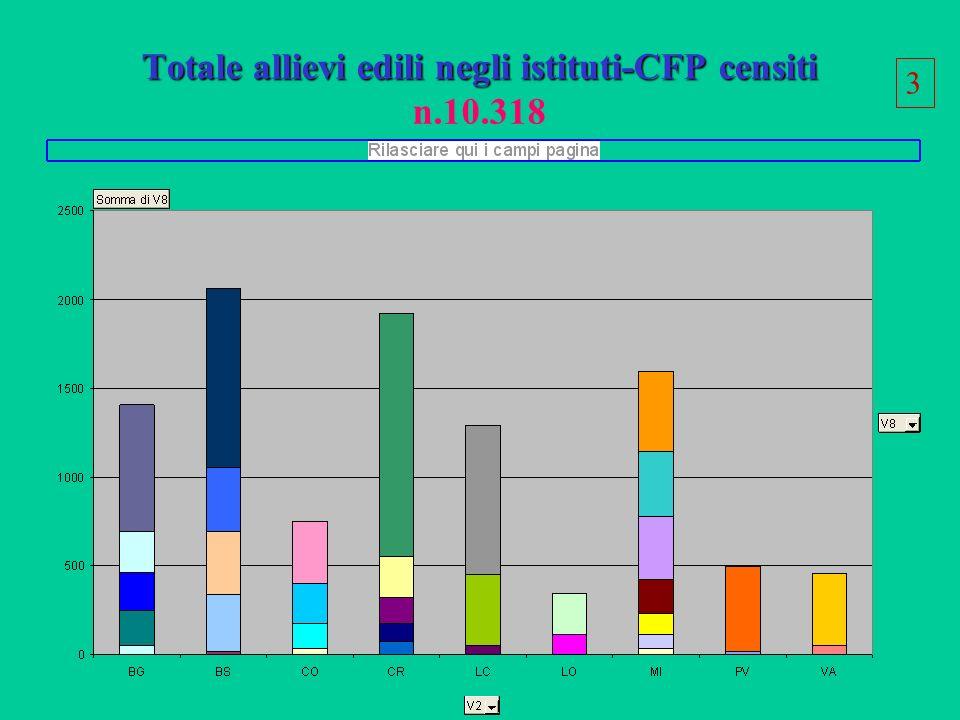 Totale allievi edili negli istituti-CFP censiti Totale allievi edili negli istituti-CFP censiti n.10.318 3