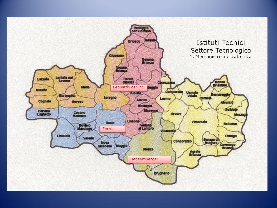Istituti Tecnici Settore Tecnologico 1. Meccanica e meccatronica Fermi Hensemberger Leonardo da Vinci