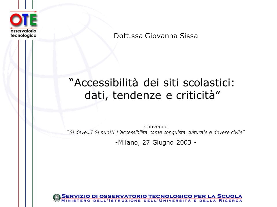 Dott.ssa Giovanna Sissa ConvegnoSi deve…. Si può!!.