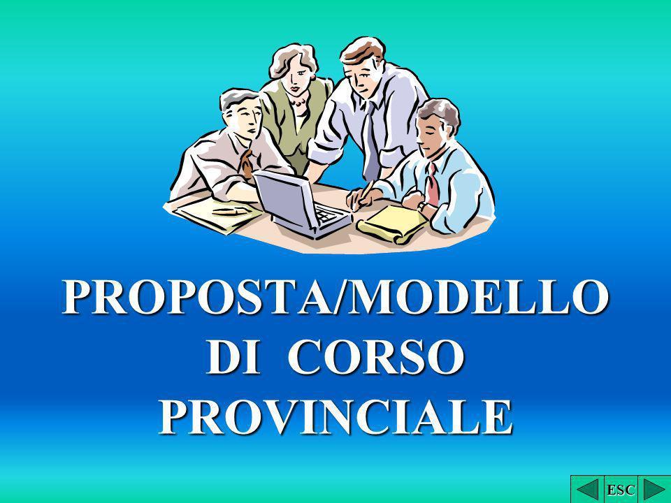 PROPOSTA/MODELLO DI CORSO PROVINCIALE ESC