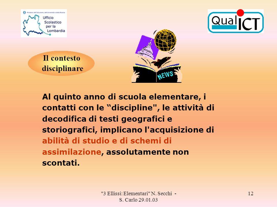 3 Ellissi: Elementari N. Secchi - S.